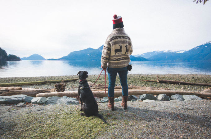 Josie and Rey overlook Porteau Cove