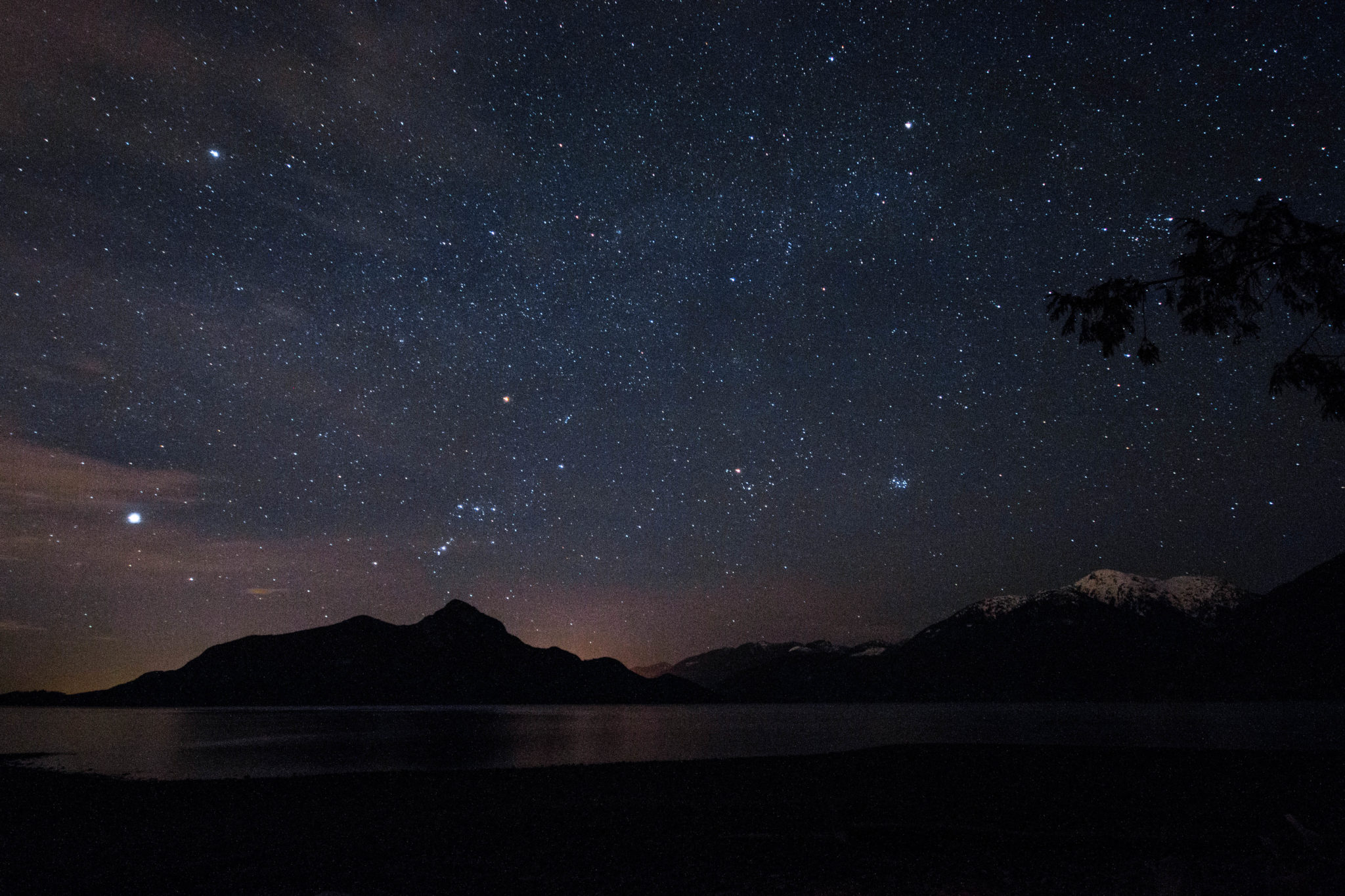starry night at porteau cove