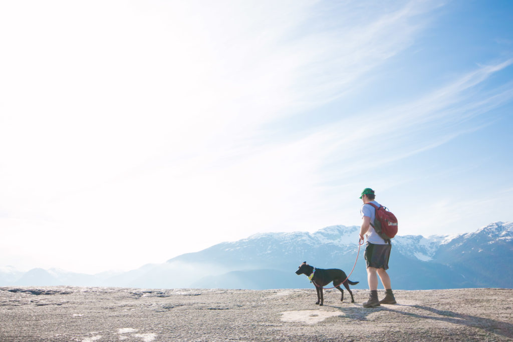 Nick and Rey hike the Stawamus Chief.